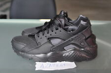 Nike Huarache Run GS Black 654275 020 Triple Anthracite Leather Boys noir negro