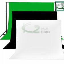 3 Color Photography Muslin Backdrop Cotton Seamless Background for Studio Light