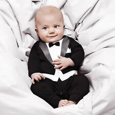 Gentle Kids Baby Romper Cotton Gentleman Jumpsuit Party Custome Clothes Outfit