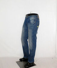 New Mens Branded Designer Jeans Straight leg Crosshatch Distressed  RRP £59.99