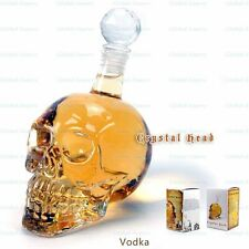 Crystal Head Skull Vodka Whiskey Glass Bottle Empty Drinking Home Bar Decanter