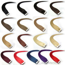 """100% Brazilian Remy Human Hair Extensions Super Tape in Weft Hair 20Pcs 16""""-24"""""""