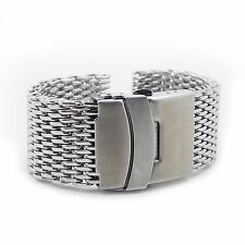 4mm Thick Shark Mesh Watch Band Stainless Steel 18mm 20mm 22mm 24mm