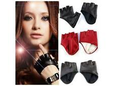 Fashion Half Finger FOX  Leather Gloves Ladys Fingerless Driving Show Gloves