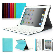 Detachable Wireless Bluetooth Keyboard With PU Leather Case Stand For iPad 2 3 4