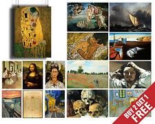 A3 Size FAMOUS PAINTERS CLASSIC PAINTINGS Poster Fine Art Print Home Wall Decor