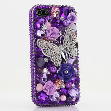 iPhone 6 6S / 6S Plus 5S Bling Crystals Case Cover Butterfly Purple