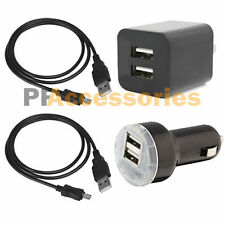 Dual USB Home Wall + Car Charger + 2 Sync Data USB Cable for Android Smart Phone