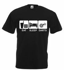 Eat Sleep Darts Funny T Shirt Xmas Christmas Birthday Gift Mens Ladies Womans