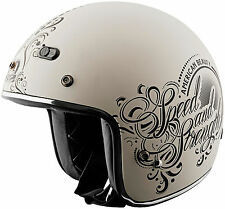 Speed and Strength SS600 American Beauty 3/4 Motorcycle Helmet Matte Cream