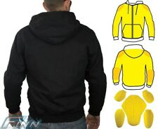 Motorcycle Hoodie Lined with Dupont™ Kevlar® Dual Layer w/ CE Armour - 2XL
