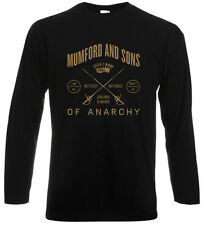 New MUMFORD AND SONS UK Rock Band Men's Long Sleeve Black T-Shirt Size S to 3XL