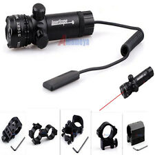 New Tactical Red Dot Laser Mounting Sight Rifle Gun Scope+Remote Switch+Mount US