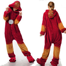 Adult Onesies Pajamas Cosplay Costume Sleepwear Iron Man Unisex Hero Sleepwear