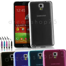 HOUSSE ETUI COQUE SILICONE TPU POUR SAMSUNG GALAXY NOTE 3 LITE /NEO +FILM+STYLET