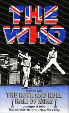 The Who inducted to hall of fame, old music poster reproduction.