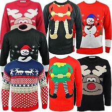New Ladies Mens Novelty Christmas Jumpers Long Sleeve Knitwear Sweater Top S-XL