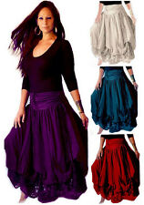 @F7260 SKIRT LAYERED STRETCH LYCRA LACE RUCHING FASHION TIES STYLE MADE 2 ORDER