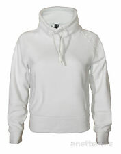 BENCH BNWT Filler Cowl Neck Ladies Fleece Buttons Pockets Grey/White Size XS,S,M