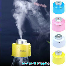 New USB Portable Mini Water Bottle Caps Humidifier Air Diffuser Mist and Purify