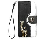 Vintage Deer Wallet Leather Case Cover For Apple iPhone 4 4S 5 5G 5S Black White