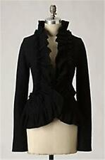 NWOT Anthropologie Wrapped-In-Ruffle Cardigan Sz M - Black - by Charlie & Robin