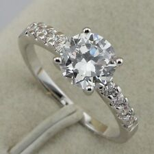 fantastic nice white cz gems jewelry gold filled ring rj498 size 5.5 6.5