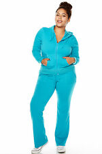Womens Ladies Plus Size FRENCH TERRY HOODIE AND PANTS SET FREE Shipping