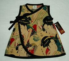Punk Geisha Asian Japanese Conscious Children's Clothes baby girl dress clothes
