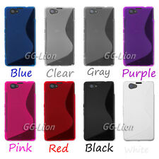 S-Line Silicone Gel Rubber TPU Case Cover Skin For Sony Xperia Z1 mini, D5503