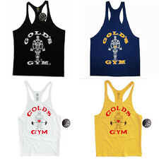 Details about  Golds Gym Singlet | Stringer | Tank Top | Vest Mens World Gym