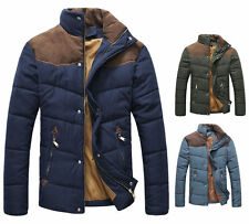 Hot Men's Slim Fit Winter Warm Thermal Wadded Jacket Cotton-padded Coat Outwear