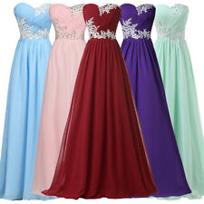 XMAS GIFT Sexy Strapless Beaded Party Bridesmaid Evening Prom Club Long Dress GK