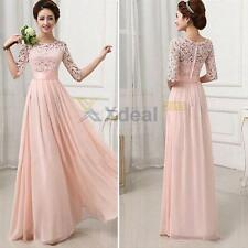 XD#3 Women Lace Chiffon Bridesmaid Prom Ball Cocktail Party Evening Formal Dress