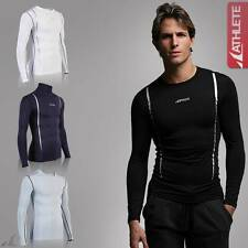 ATHLETE Mens Lightweight Compression Long Sleeve Top Skins Cycling Run Baselayer