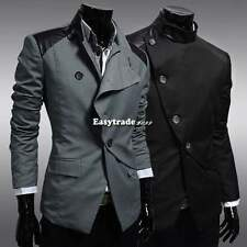 New Fashion Mens Slim Fit Stylish Casual Buttons Suit Coat Jacket Popular