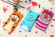 For HTC ONE M7 M8 Desire 816 820 610 626 Soft TPU Cute Silicon Case Animal Cover