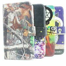 1x style leather flip credit wallet stand case cover for samsung blu Alcatel htc