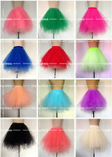 Latest Irregular Tulle Petticoat Burlesque Bustle Dancer Tulle Skirt 14 Colors