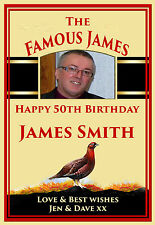 Personalised grouse Whiskey bottle label xmas birthday gift special occasion