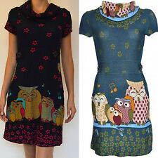 Womens owl print dress for party/casual wear in 3 sizes great quality good
