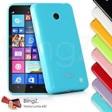 New Slim Fit Silicone TPU Rubber Jelly Phone Case Cover for Nokia Lumia 630