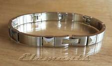 Unique Men's Stainless Steel BRUCE Link Bracelet Silver/Gold plated detail