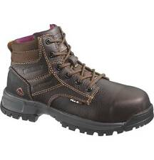 """Wolverine Women's Piper Waterproof 6"""" Leather Lace Up Work Boot Brown W10182"""