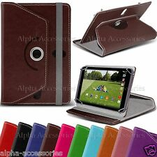 Luxury PU Leather 360° Rotatable Stand Case Cover With For Tesco Hudl 2 - 2014