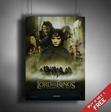 LORD OF THE RINGS MOVIE POSTER * LOTR The Fellowship of The Ring * A3 / A4 PRINT