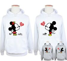 Disney Mickey Mouse Mr Kiss Minnie Mouse Mrs Couple Hoodie Sweatshirt Tops Tees