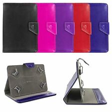 Adjustable 4 Corners Luxury Leather Case Cover Skin Stand for 7 Inch Tablets