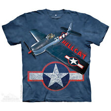 The Mountain T-Shirt Grumman F6f Hellcat Fighter Plane Adult Size