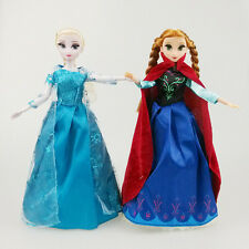 "Disney Style Frozen 12"" Dolls Anna and Elsa Musical Magic Doll Christmas Gifts"